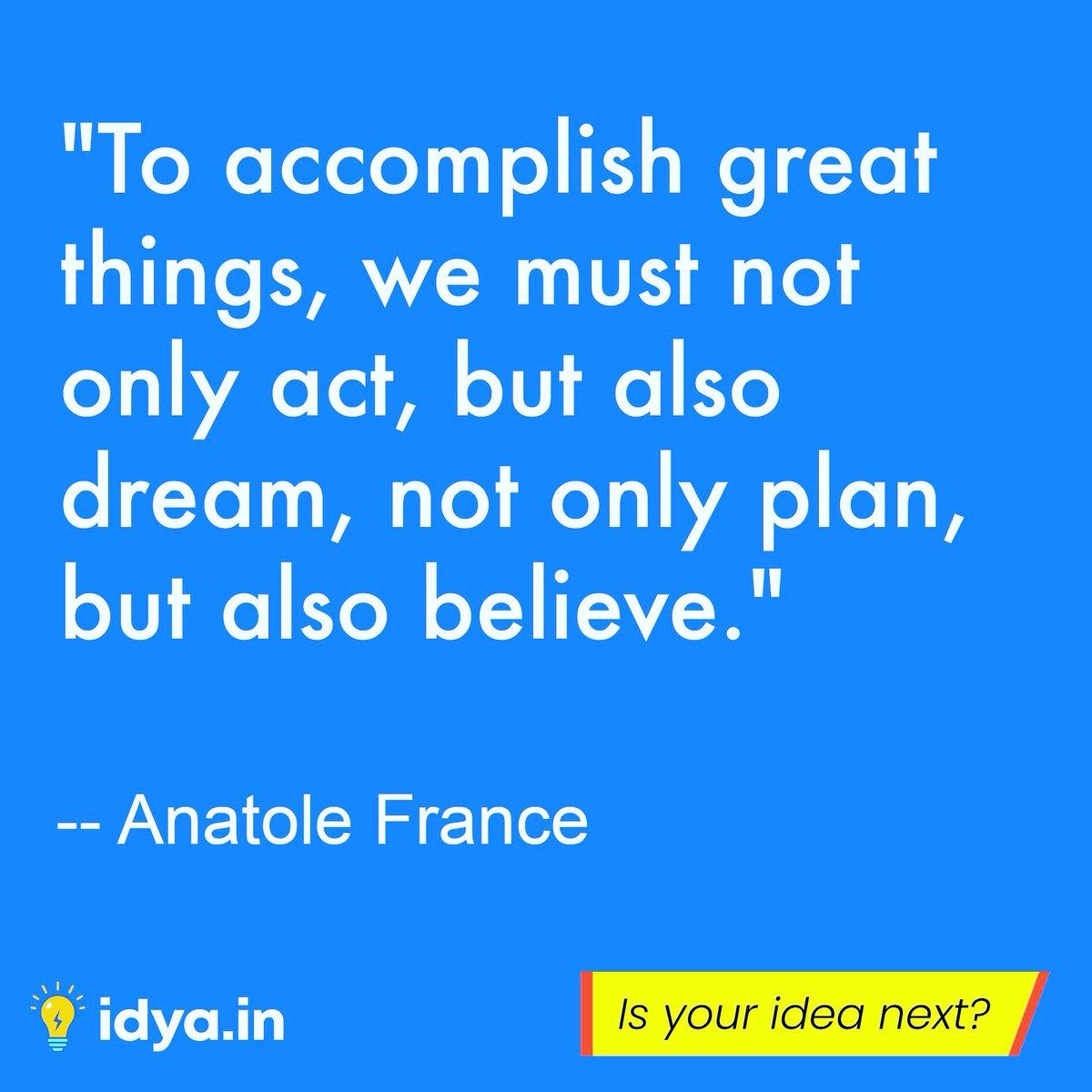 Do you believe in your dreams? Signup for Beta launch http://idya.in #idea #newideas #innovativeideas #innovation #entreprenurship #sayourideas #founders #startups #entrepreneurs #startupfunding #vcfunding #startupideas #angelinvesting #believe #dreams #inventorspic.twitter.com/CPwx4Vy0MH