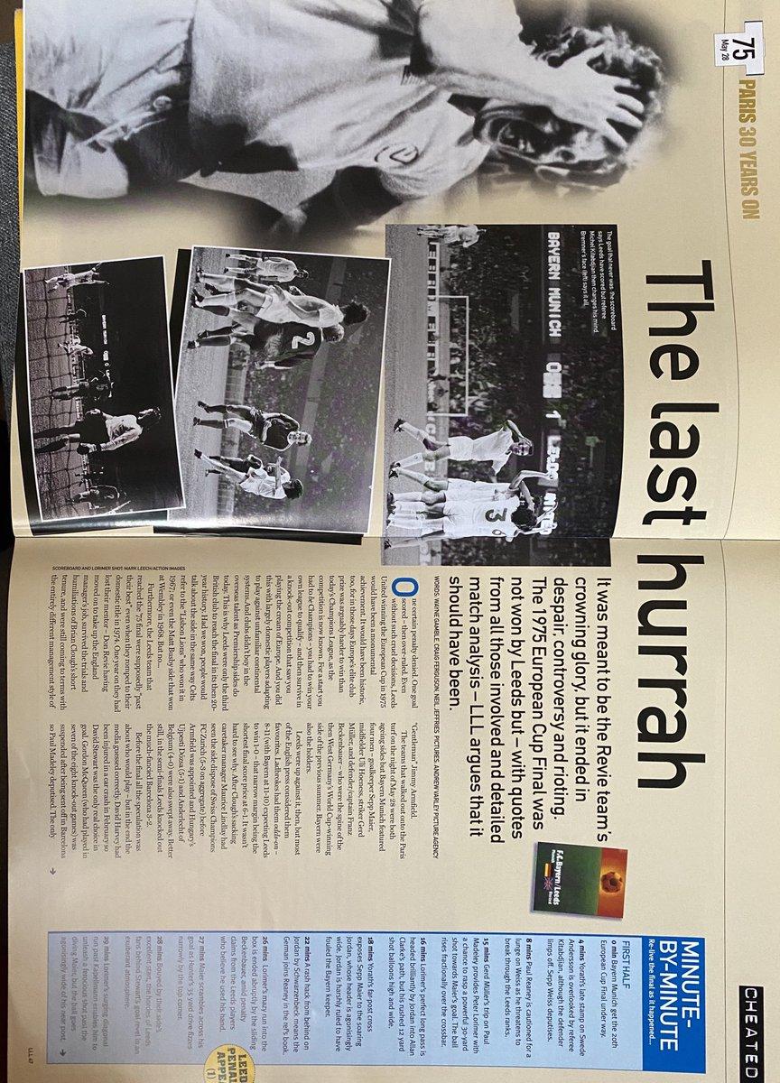 Article from LeedsLeedsLeeds, 2005, re-living the 1975 European Cup Final. #lufc https://t.co/KUd2C6vrKS