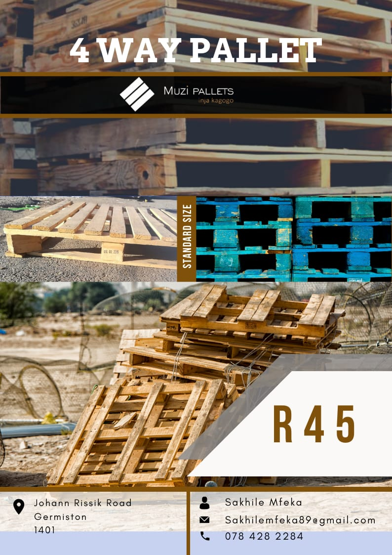 My name is Sakhile Mfeka based in Germiston i sell Pallets for a living contact me on 0784282284 for more information thank you #BlackTwitter <br>http://pic.twitter.com/f5kGRf6wlb