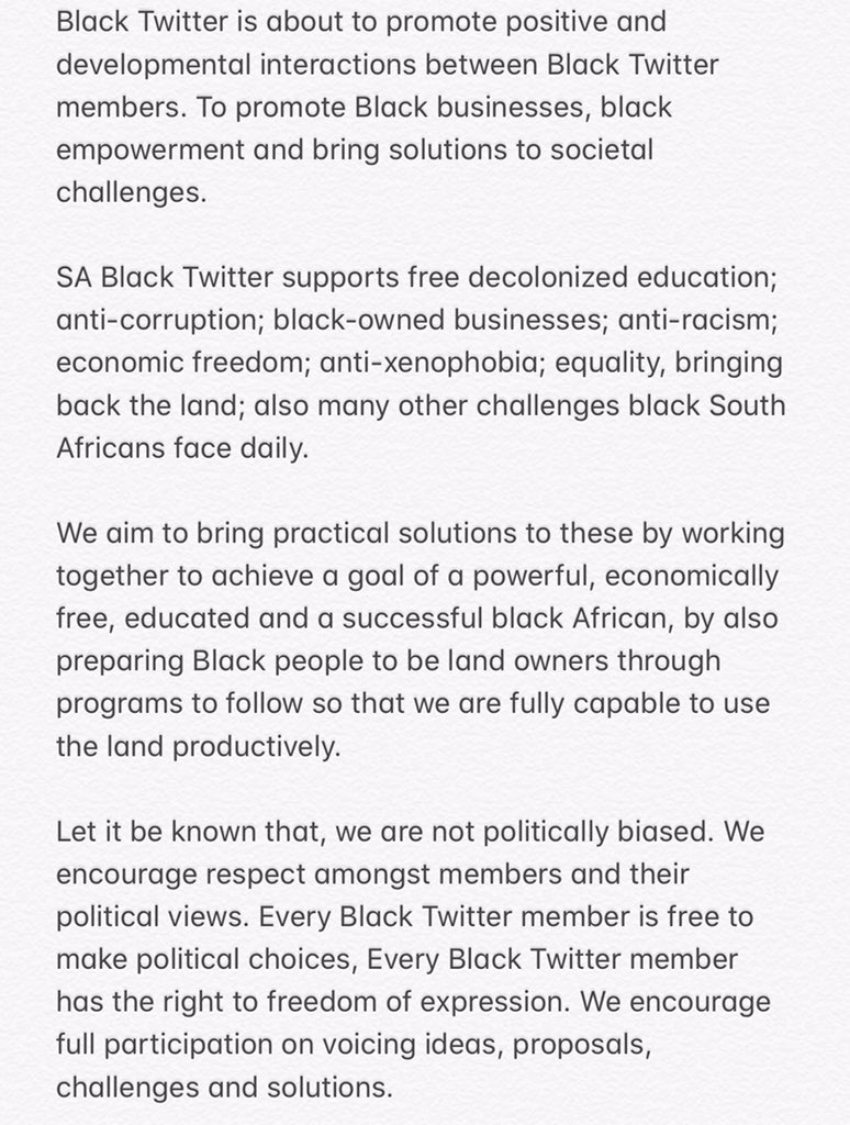 Back in the days. This was the founding manifesto of SA Black Twitter. #BlackTwitter #blacktwitterSA<br>http://pic.twitter.com/jYT7U2PUFp
