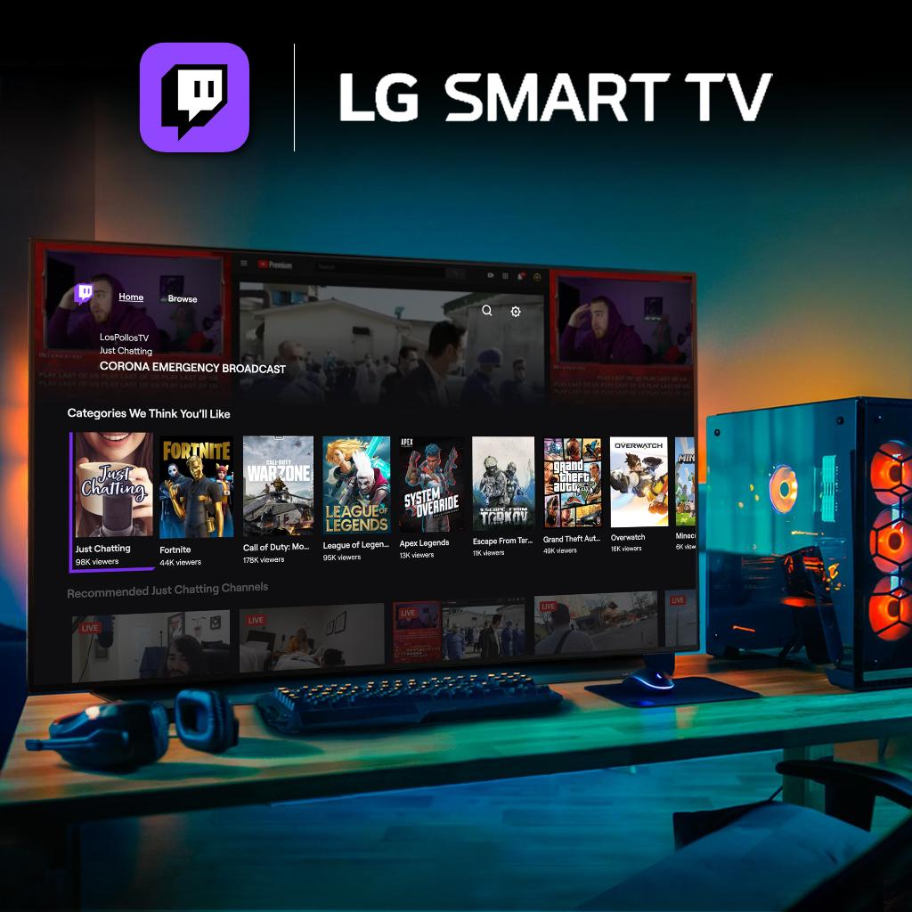 Lg Nordic On Twitter We Are Super Thrilled To Announce That The Twitch App Is Now Available For Lg Smart Tv Enjoy Your Favourite Games Events And Streamers On The Big Tv