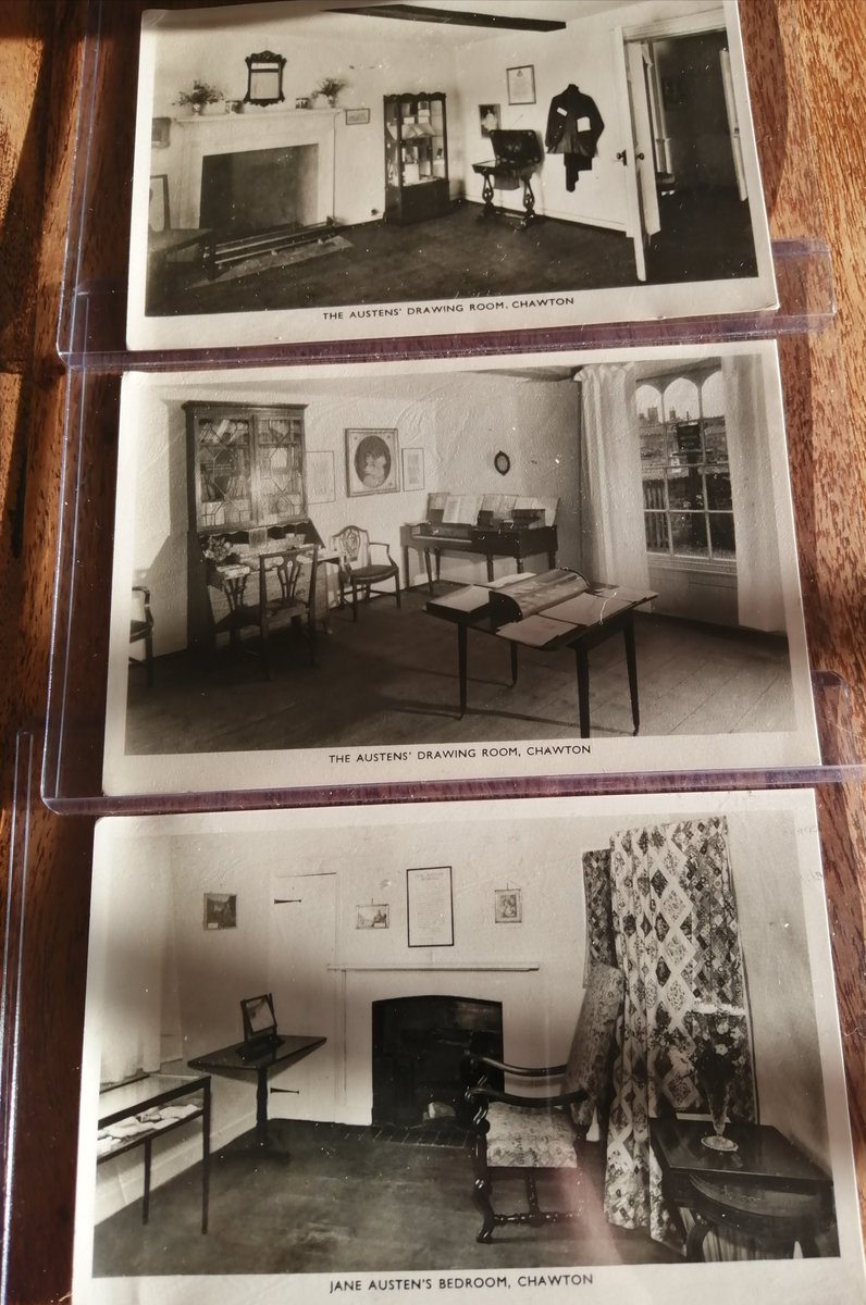My latest acquisition - postcards of a young @JaneAustenHouse. Having visited myself last year and hoping to visit again next year, I will keep these postcards in my minds eye as I ramble about. These are avail on ebay. #JaneAusten