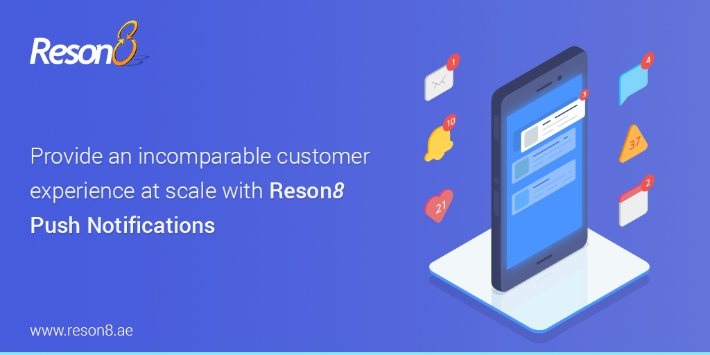 Connect with your customers using Reson8 Push Notifications. Send them #alerts based on their location or preferences to increase #engagement, #acquisition & #retention  https:// bit.ly/2yBapxq        #mobilemarketing #marketing #reminders #notifications #smsmarketing #iOS #android<br>http://pic.twitter.com/hFThN7YDfp