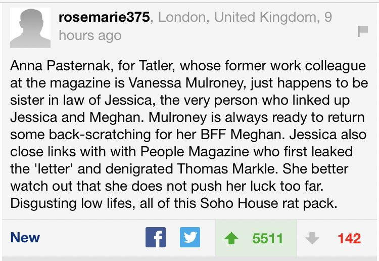 The new scathing Tatler article attacking Catherine, William, Carole Middleton & just being spiteful in general... well you should ALL READ THE COMMENT BELOW. All roads lead back to Meghan & SOHO House. Please share. @KensingtonRoyal @ClarenceHouse @RoyalFamily pic.twitter.com/D6bEne5uOU