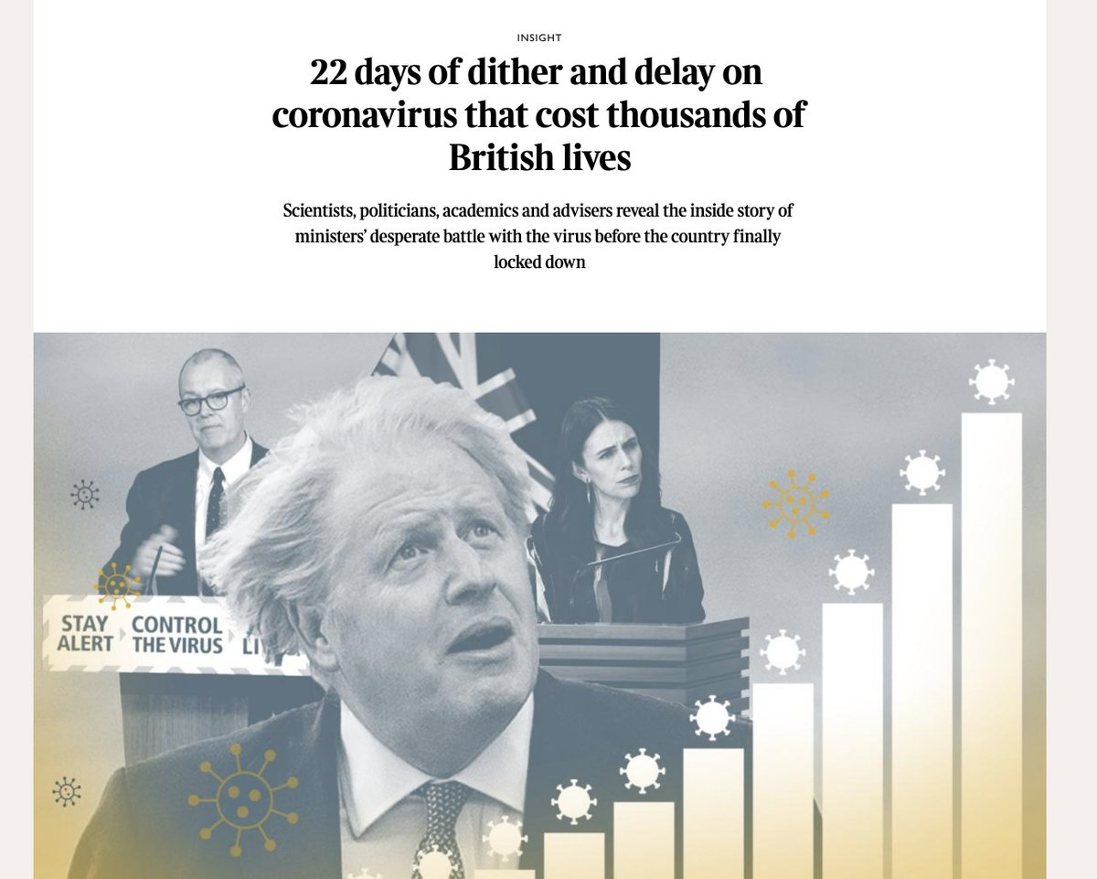 Perversely, the Cummings scandal has actually been *helpful* to the UK govt in that it has directed attention away from its deadly incompetent handling of the Covid-19 crisis, as laid out by these Sunday Times and FT stories... https://t.co/GjpjiDkher