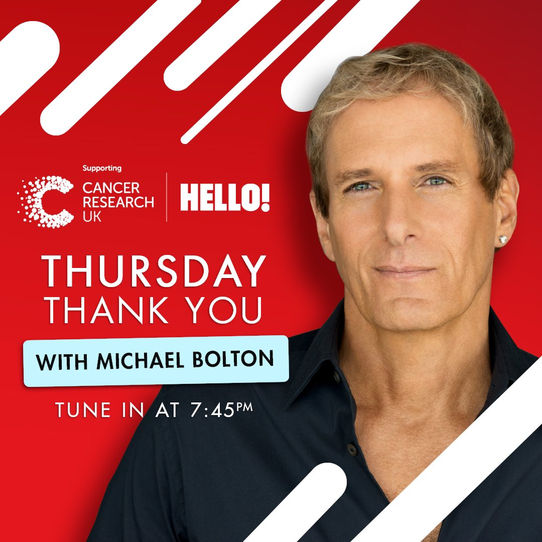 Don't miss tonight's final Thursday Thank You, featuring @MBSings! Head to @HelloMag's IGTV from 7:45pm to catch the performance, ahead of the weekly #ClapForOurCarers celebration at 8pm. 👇🎙
