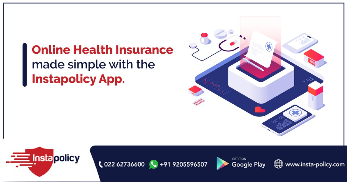 Getting Health Insurance has never been this simple! Download the #instapolicy app now! . . . #medicalbill #healthcare #healthinsurance #instapolicy #onlineinsurance #insurance #insuranceapp #easyclaims #riskmanagement #insuranceclaims #coverage #insuredlivingpic.twitter.com/YsPATK28ik