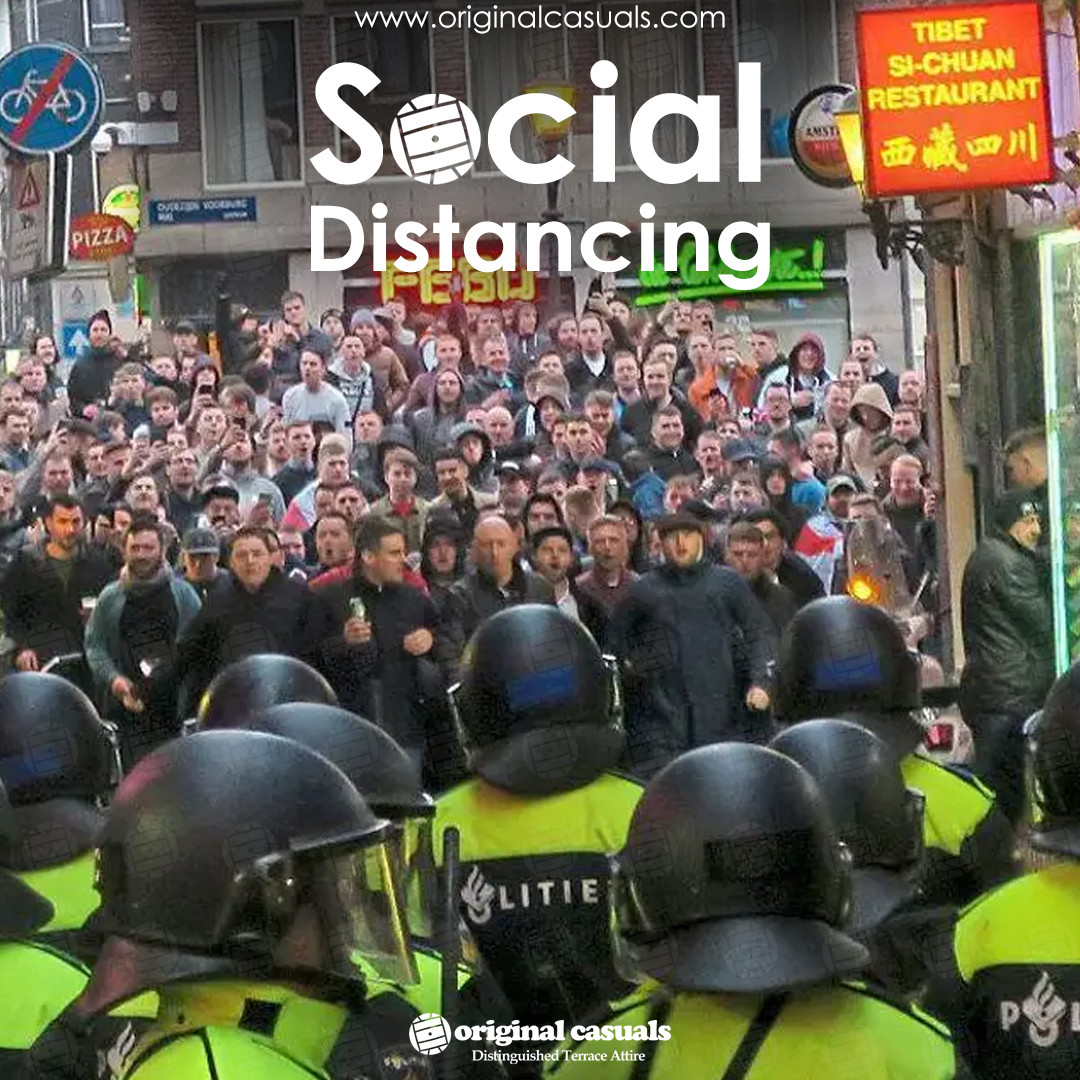 Day 73...Social Distancing casual style...Is it Friday yet?  #ThursdayThrowback #SocialDistancing #KeepItCasual #violenza #Tshirts #Casuals #football #SubCulture #stayingcasual #BeSafe #FCKCVD19 #casualicons #terraceculture #casuallyobsessed #OriginalCasualspic.twitter.com/qgCfOHHxMQ