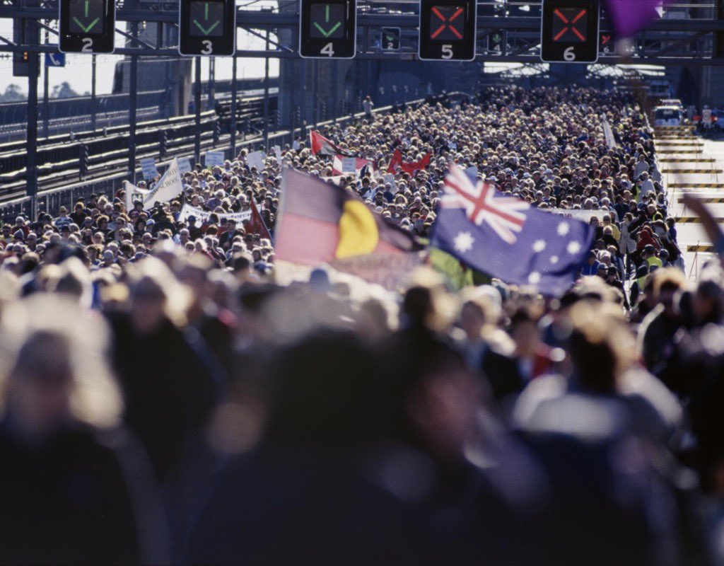Twenty years ago today, 250,000 people walked across Sydney Harbour Bridge in support of reconciliation. I was one of them.  Our cause is no less urgent now than it was two decades ago.  Because a country that is not truly reconciled is not truly whole.pic.twitter.com/NfTlsJ08mh
