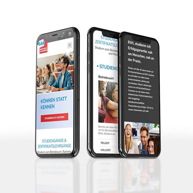 DAA Wirtschaftsakademie geht mit neuer Webseite online. 🎉 Wir haben in der Zusammenarbeit ein neues modernes Design 🎨 entwickelt und auf WordPress-Basis umgesetzt. 🌐   #credia #werbeagentur #werbeagenturbonn #webdesign #internetagentur #webentwicklung