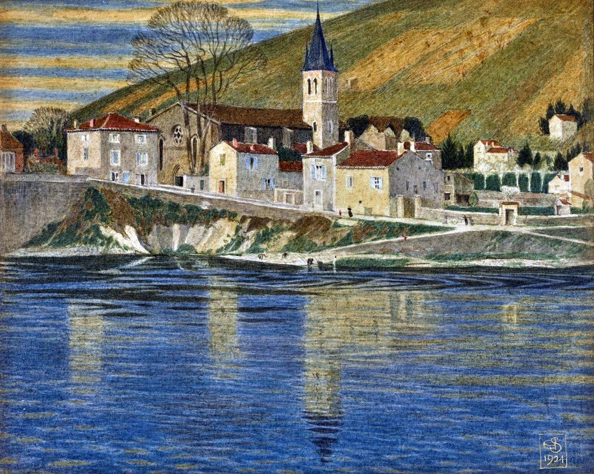 Joseph Edward Southall - Italian Lakeside Village. https://t.co/Ptd8Fl3aSt