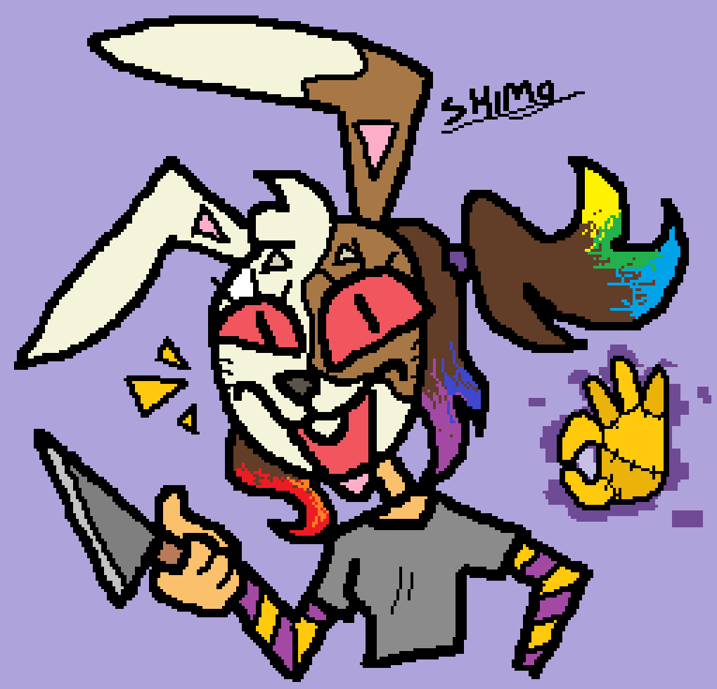 i'll keep adding older drawings, but for now one I did just now with the touchpad in mspaint 28/05/2020 plsnoticeme #Vanny #FNaF https://t.co/npIdD9gEVr