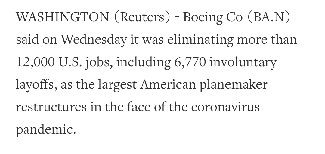 $BA >>#Boeing cutting more than 12,000 U.S. jobs, thousands more planned mobile.reuters.com/article/amp/id…