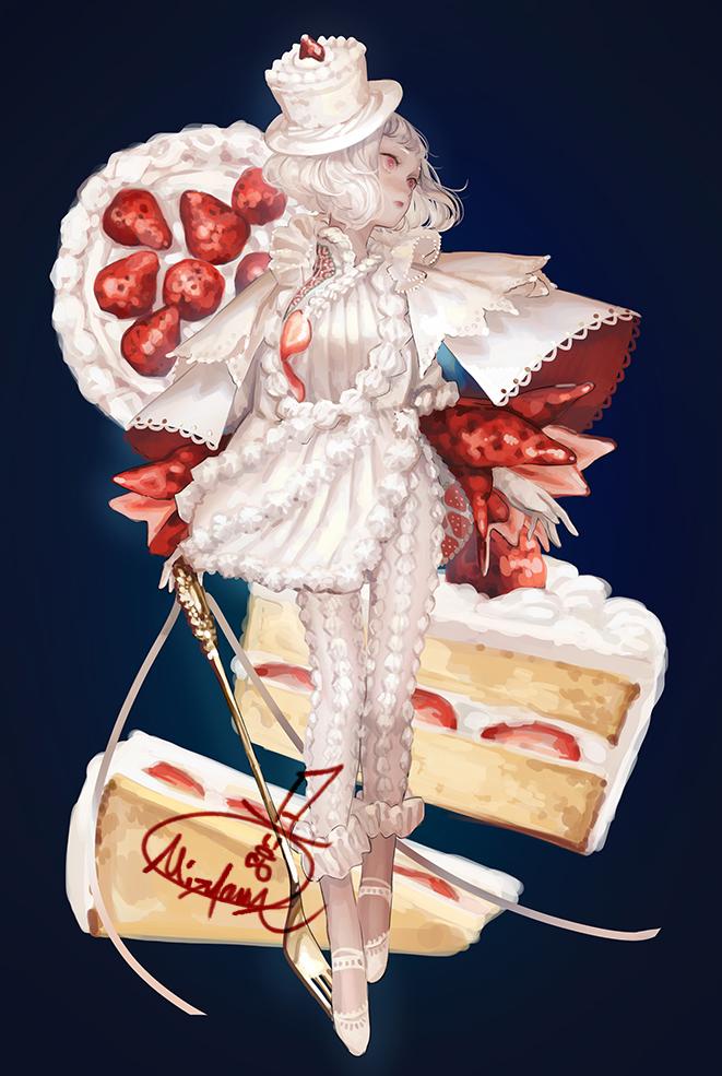 オリジナル。ショートケーキなドレス