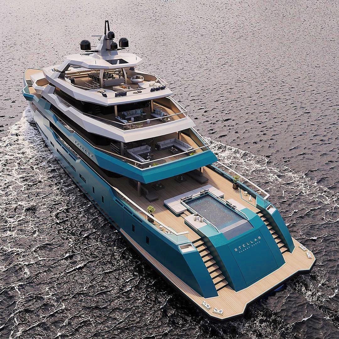 The new 75m #SuperYacht 'Stellar' ! Isn't it gorgeous? Credit: @onlyforluxury #BillionaireLifestyle #Yacht #Luxury #LuxuryLifestyle pic.twitter.com/p21akeLEYV