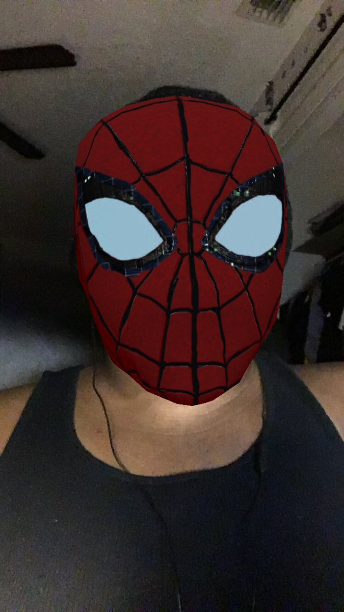 """Anyone can wear the mask."" - @TheRealStanLee : @SpiderVerse . I luv this filters!! Amazing & Spectacular!! My sneak peek of my dream cosplays. I plan on buying the #milesmoralesspiderman mask & the #peterparkerspiderman mask from #spidermanfarfromhome .  <br>http://pic.twitter.com/IxUIqp1Enr"