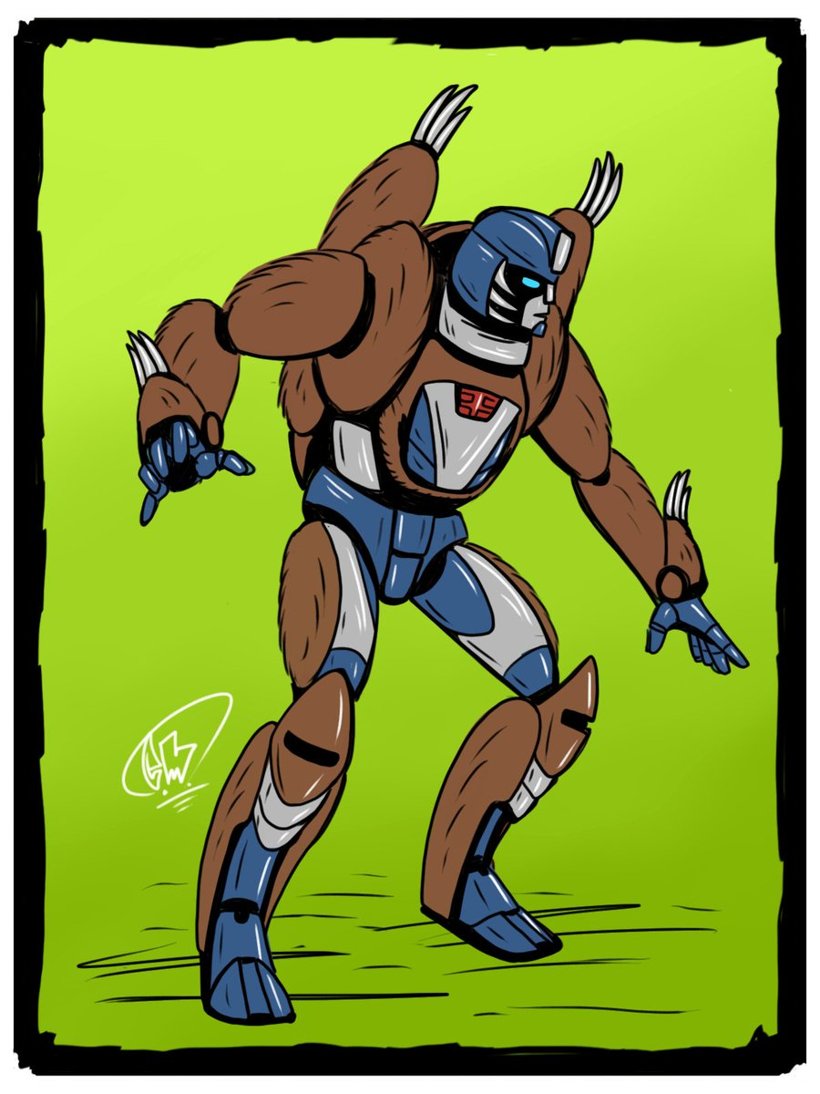 #Beastwars drawing day 20something! So so tired. @Zezlemet said sloth+autobot+stealth. I made a dumb rule that autobot or deception would have to be based on a G1 character (see day 3, 15 & 20). Mirage is stealthy... I picked mirage. mirage is a sloth now. #dailydrawing pic.twitter.com/rO3XjEqfOJ