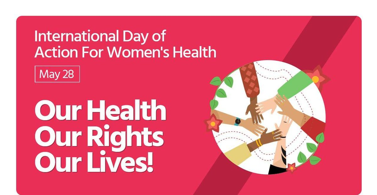 Lets raise awareness on issues pertaining to women's Sexual & Reproductive Health Rights. There's no limit to what a woman can achieve if supported by society. #WomensRightsAreHumanRights #InternationalDayofActionforWomenHealth