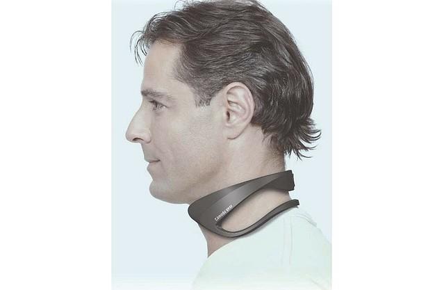 【軽量】富士通、「身に着けるエアコン」発表6月より法人向けに提供を開始。首に装着した冷却部から頸動脈の血液を冷やすことで、深部体温を下げることが可能。連続使用時間は2~4時間。