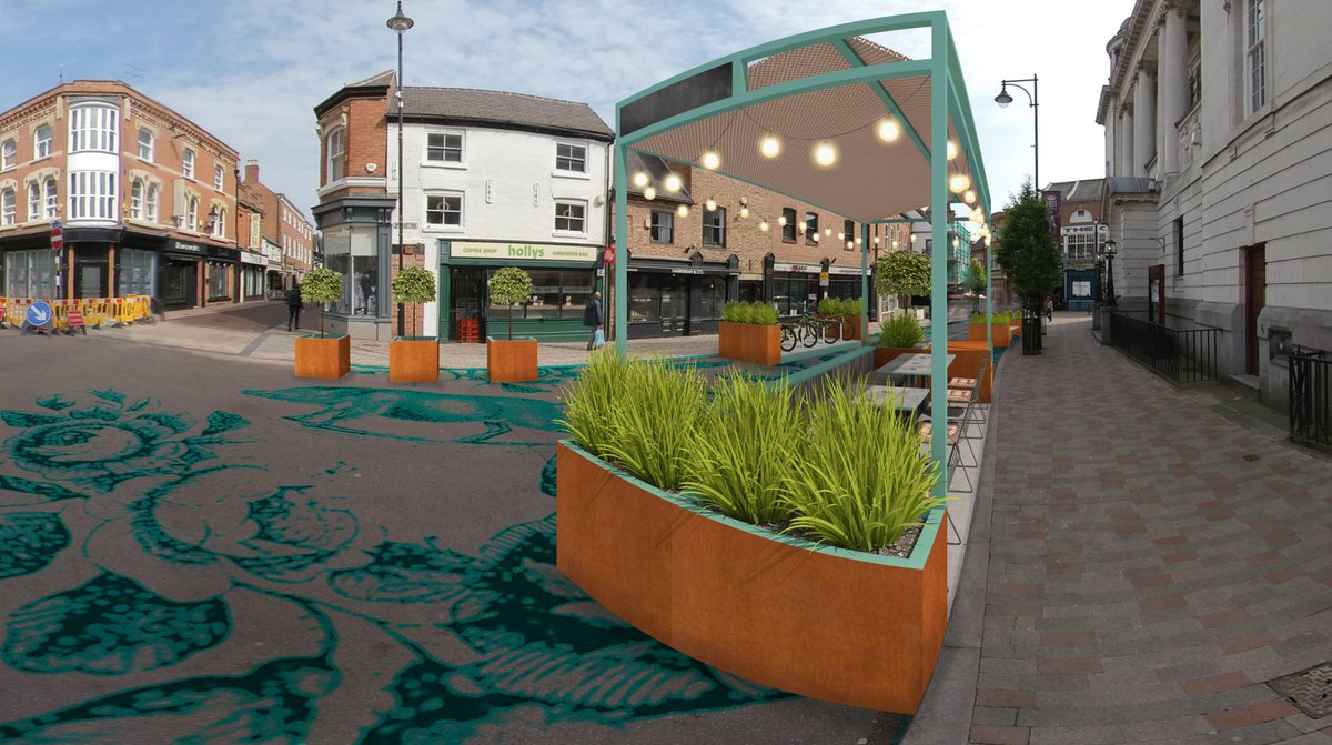 As part of our streets for people project last year we used 3D photos & models to blend our solutions into historic areas to quickly explore impactful changes. Linked to a festival or community event, transformations can be fast and generate income & activity for local businesses