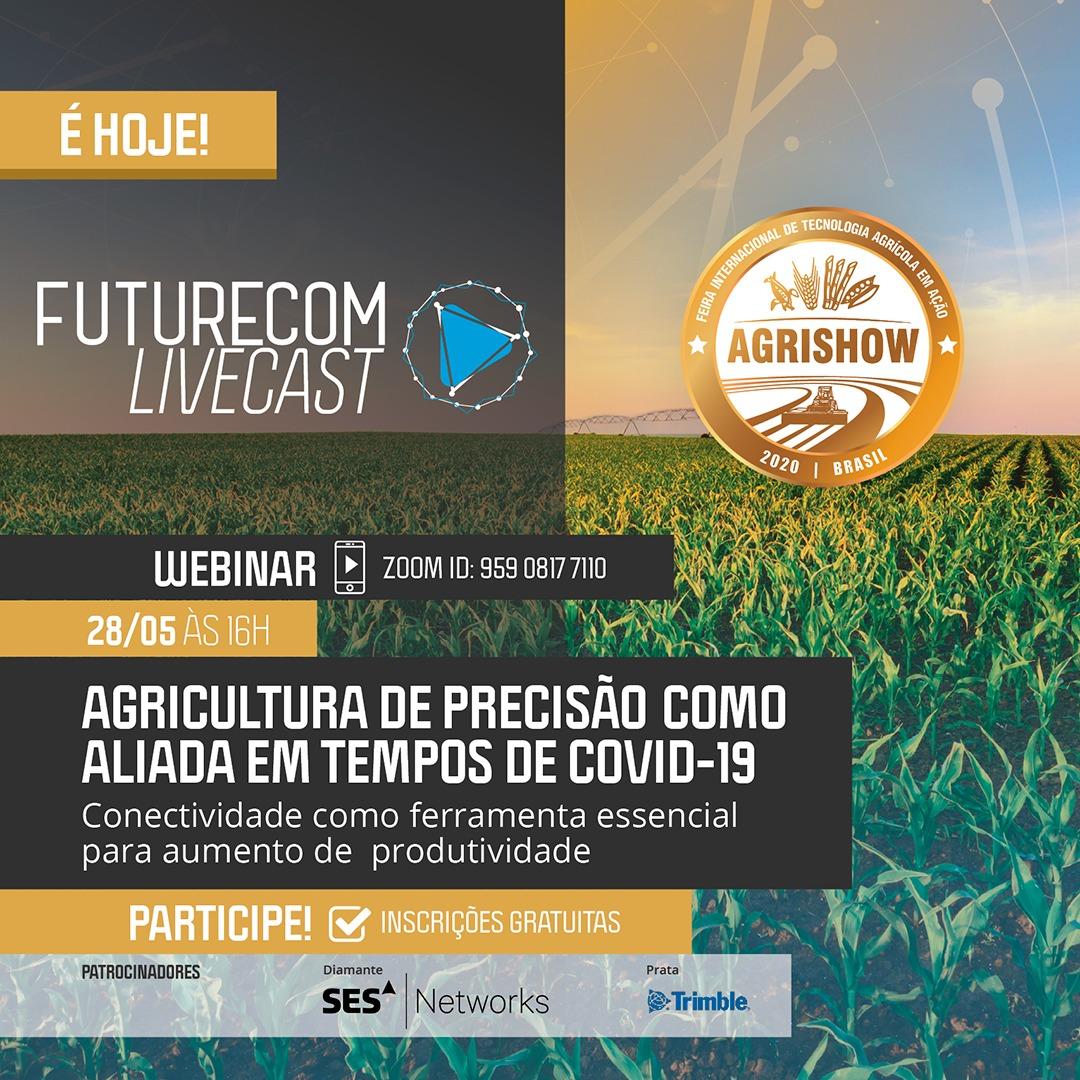 Hoje, às 16h, Paulo Bernardocki, Diretor de Redes da Ericsson LATAM South, conversará com Hermano Pinto, da @FuturecomEvento sobre inovações para o agronegócio e como a conectividade impacta a produtividade do setor, em especial nesse momento. Inscreva-se: https://t.co/4Gj3Nz2sh8 https://t.co/vIY8JDinQW