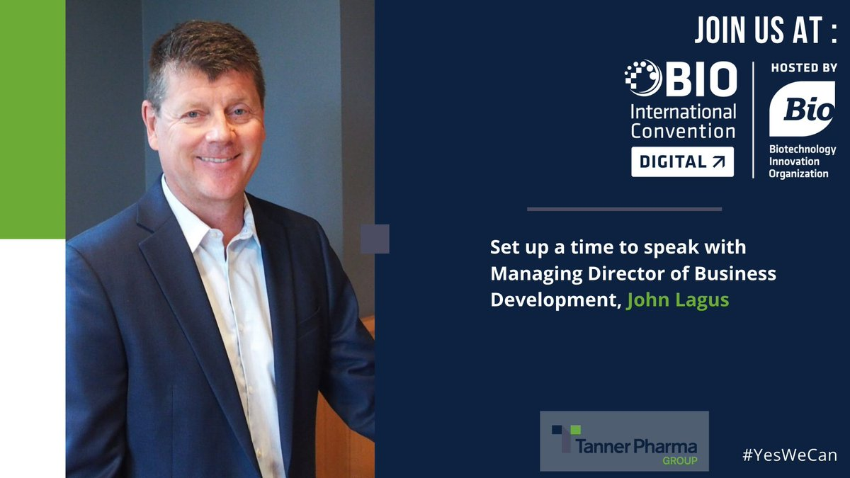 Our Managing Director of Business Development, John Lagus, will be at @BioConvention's #Biodigital conference happening June 8th-12th. Contact us to set up a time to speak with him. #pharmaceuticals https://t.co/BdyPkKUPC8