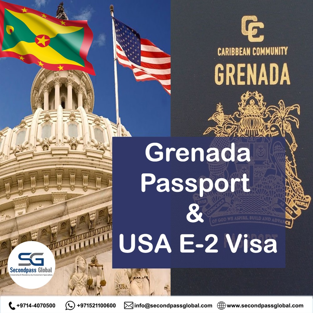 GRENADA PASSPORT  Route to migrate to USA  Invest $150,000 to acquire your Grenada passport, setup business in USA & move to USA with family on a 5 year E-2 Visa. Contact us today….  WEB:  http://www. secondpassglobal.com    <br>http://pic.twitter.com/3VTRkRnbDF