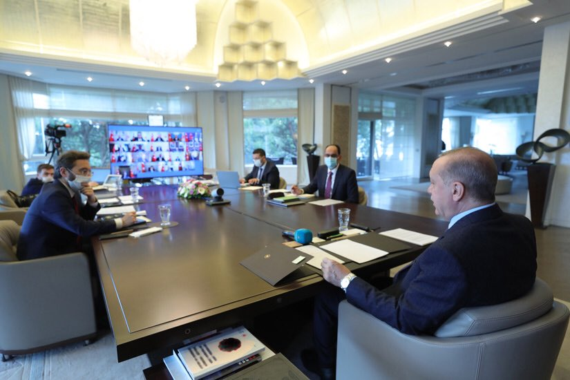 Cumhurbaşkanlığı Kabinesi, Cumhurbaşkanı @RTErdogan'ın başkanlığında toplandı