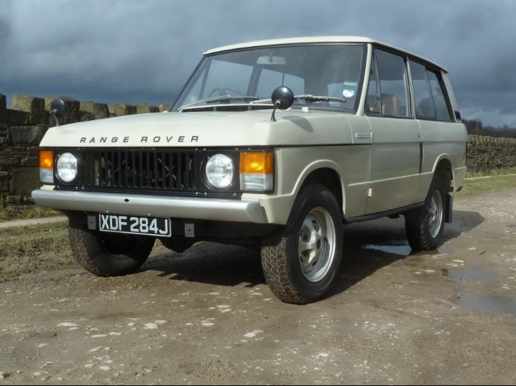 Factoid Extra:@neilmbriscoe @TopOfTheTower @t2stu @DarraghMcKenna @Roadster_Life @StvCr June sees the 50th anniversary of the Range Rover's debut & to whet your appetite for the impending daily factoid onslaught, it thought I'd post a v early example that's currently for sale.
