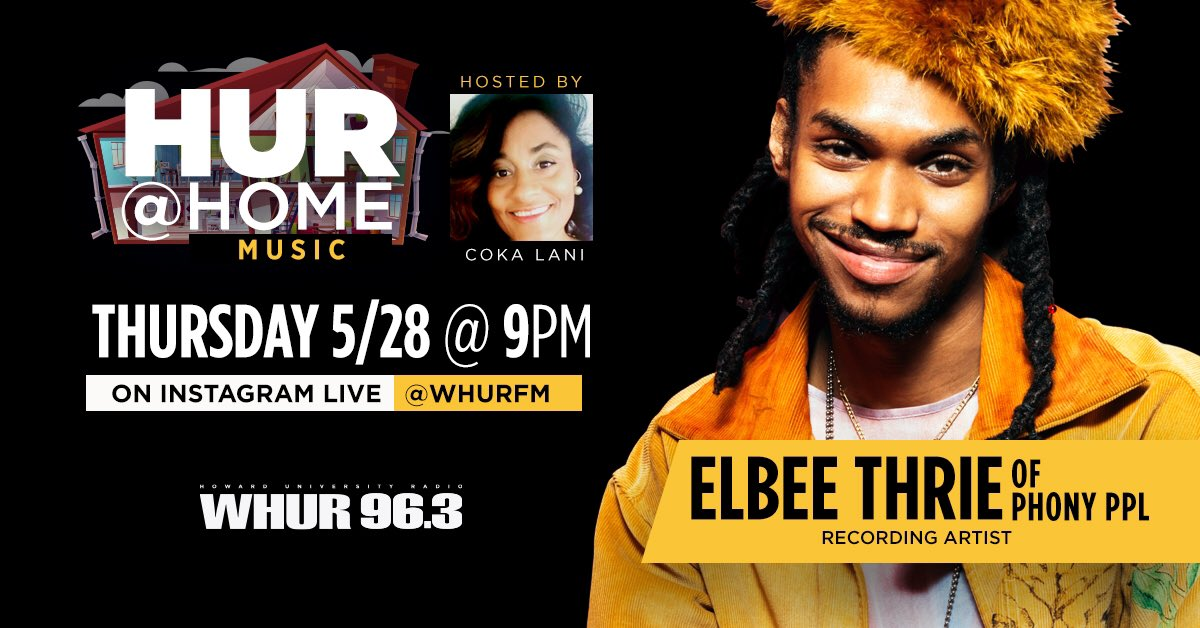 Join @ElbeeThrieBeats today with @WHURfm at 9pm EST!!! 🔥👏🏽