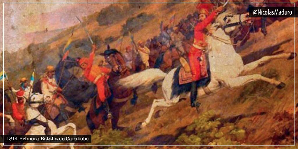 Conmemoramos 206 años de la Primera Batalla de Carabobo, en la que nuestro Ejército Libertador, dirigidos magistralmente por el Padre de la Patria, lograron la victoria frente a las fuerzas realistas. El pueblo de Venezuela está destinado a vencer siempre. ¡Viva Bolívar!