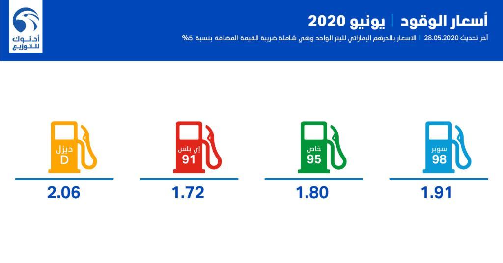 الإمارات تعلن أسعار الوقود الجديدة لشهر يونيو - معلومات مباشر