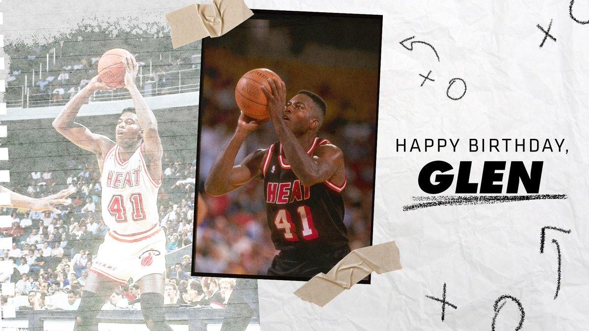 We're celebrating G-Money today! 🎉  RT with your fave @glenrice41 moment to show him some love. https://t.co/Z5DoSQlLJn