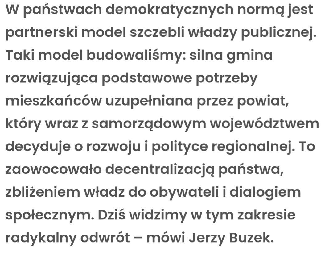 Polecam mój wywiad dla @PrawoPLserwis w którym tłumaczę m in dlaczego uważam, że w Polsce obserwujemy właśnie radykalny odwrót od decentralizacji państwa i czym taki odwrót skutkuje. #30latSamorzadow https://www.prawo.pl/samorzad/decentralizacja-panstwa-zblizenie-wladz-do-obywateli-i-dialog,500587.html…pic.twitter.com/KHHjZYujzW