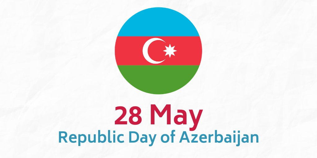 Happy Republic Day, #Azerbaijan! We wish the people of this beautiful country peace, prosperity and success! pic.twitter.com/YZ0ErY6jJy