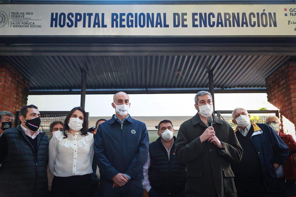 Vapuleado injustamente cuando que tiene que ser reconocido, dijo @MaritoAbdo refiriéndose a la gestión del Ministro de Salud @MazzoleniJulio . Jornada de gobierno en #Itapúa @nandutipic.twitter.com/ZVbvI4JuDM