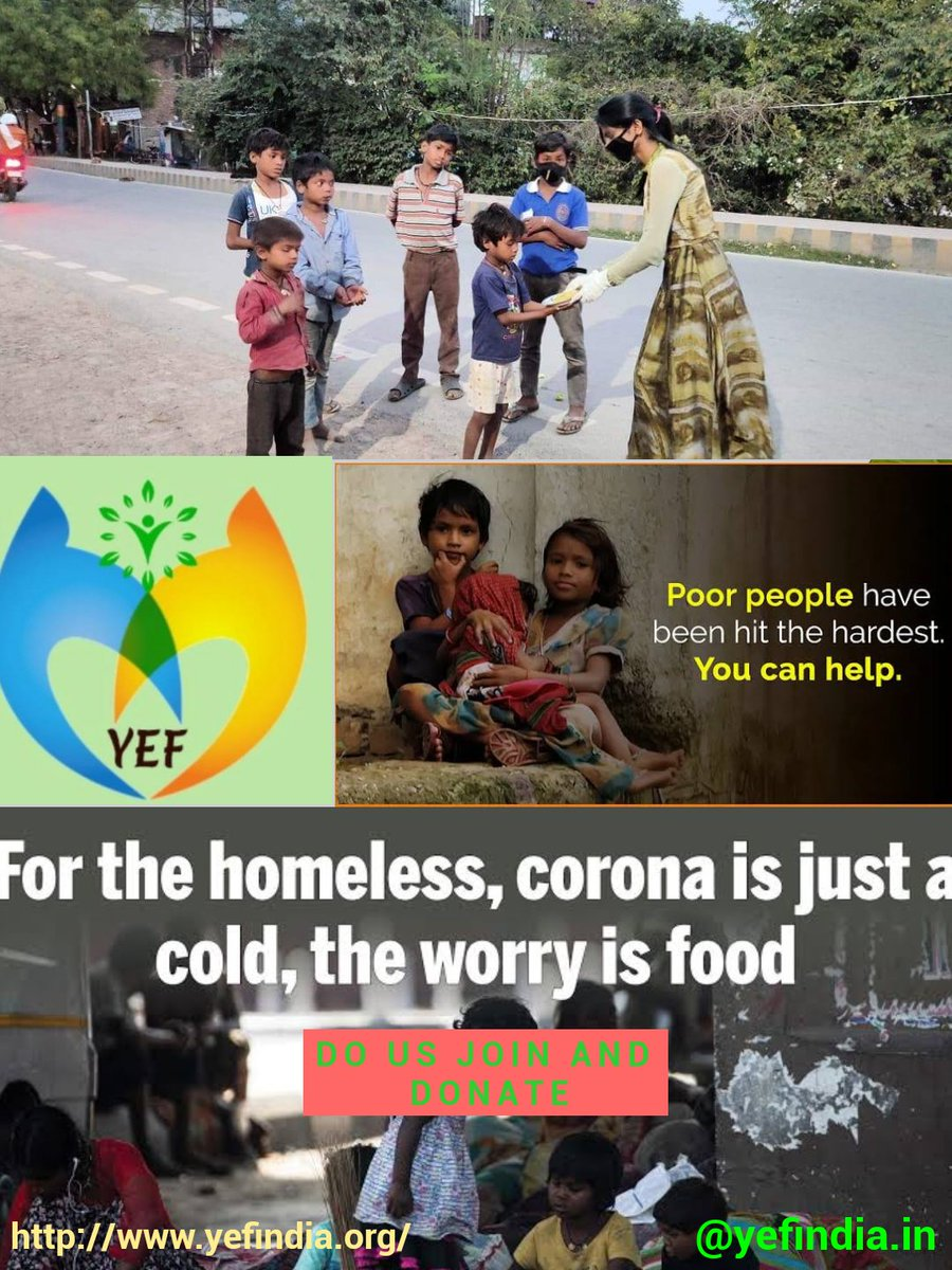 Most of the children's and daily wages labour's are  suffering  covid-19 situations so your support and DONATE save them the life... #youthempowermentfoundation #yef_india #NGO pic.twitter.com/utJuSxeLNZ