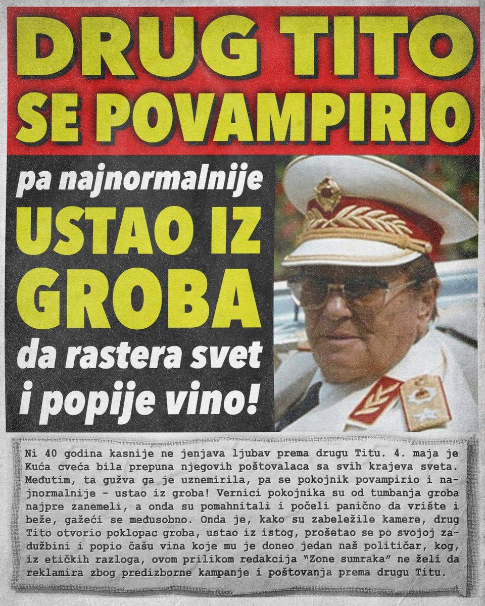 Drug Tito se povampirio pa ustao iz groba da popije vino!