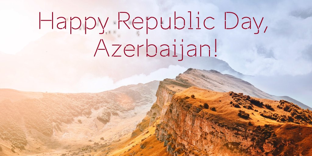 To our dear friends in #Azerbaijan, we wish a very happy Republic Day! pic.twitter.com/CVp2H6ZAI8