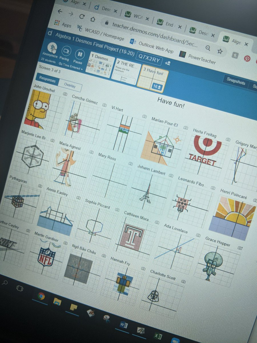 Alg Desmos Art project underway. So excited to see the final results!!  <br>http://pic.twitter.com/kihA3QWwzE