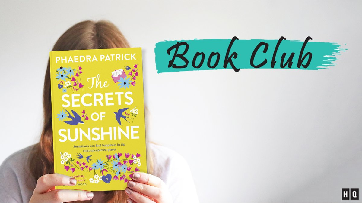 ITS TODAY! Dont miss the #HQBookClub as @phaedrapatrick goes LIVE to discuss #TheSecretsofSunshine Head over to our Facebook page at 3pm this afternoon - bring your afternoon tea and definitely bring your questions! You can find us at facebook.com/HQStories