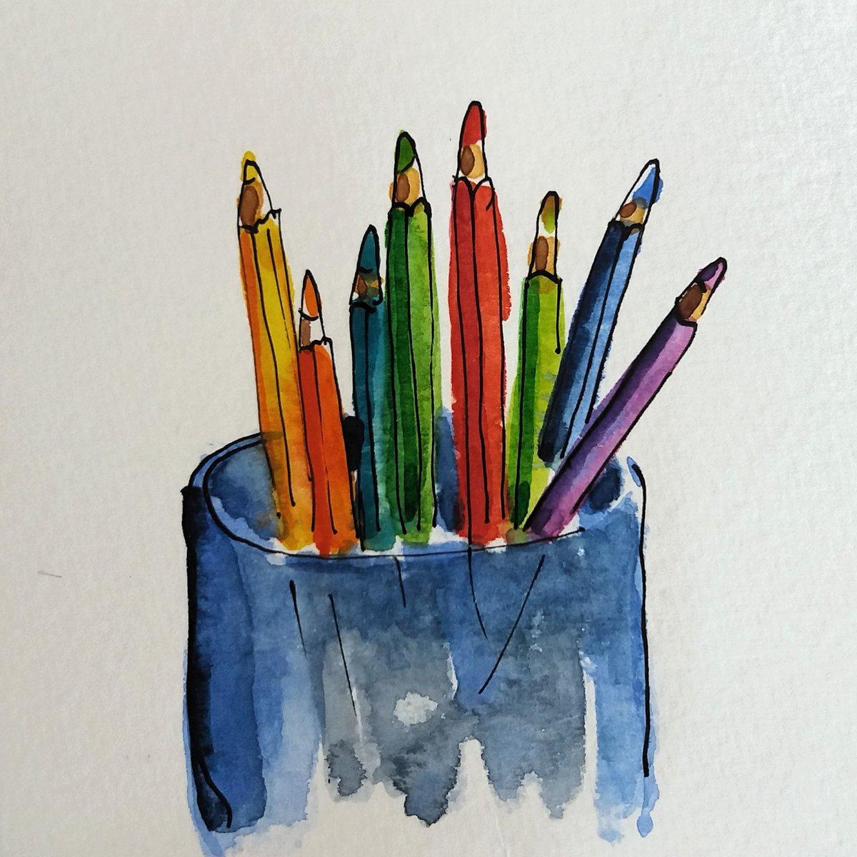 Coloured pencils. #sketchbook #watercolour #watercolor #watercolours #creativehabit #sketch #makearteveryday #inkandwatercolour #watercoloursketchpic.twitter.com/CNDdyRXPjr