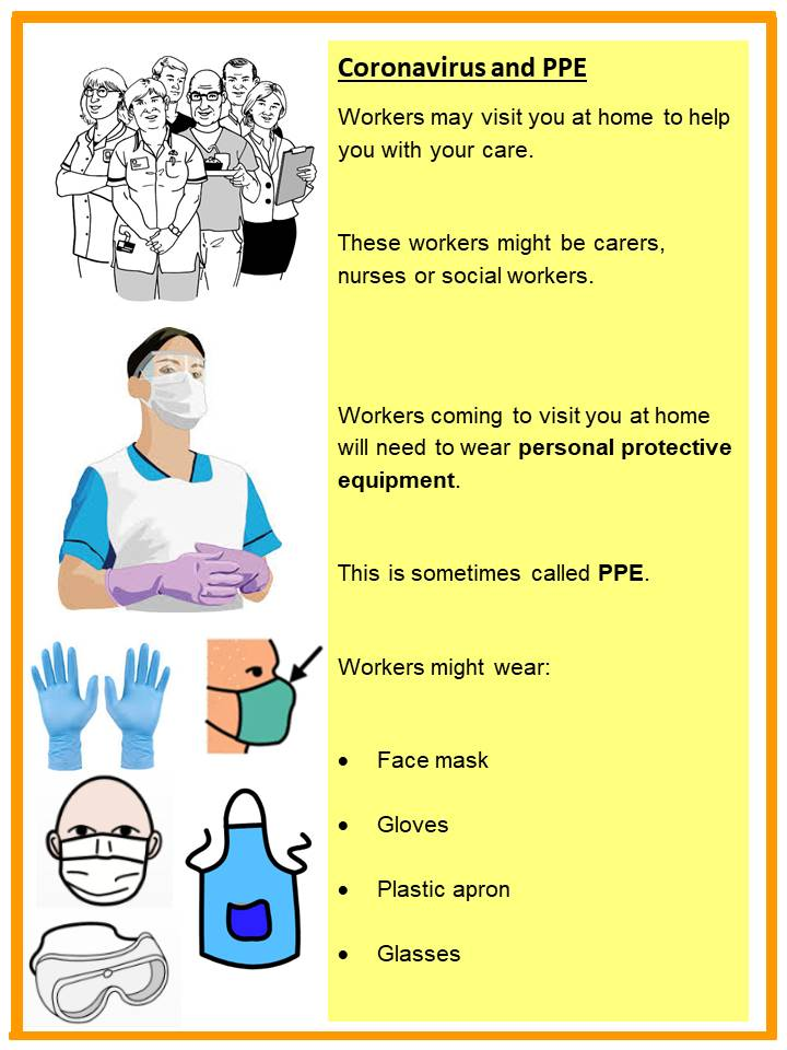 Blackpools Learning Disabilities team have created this poster to help explain why Health care workers are wearing PPE @BlackpoolHosp #BTH #TogtherWeCare #StayAlert