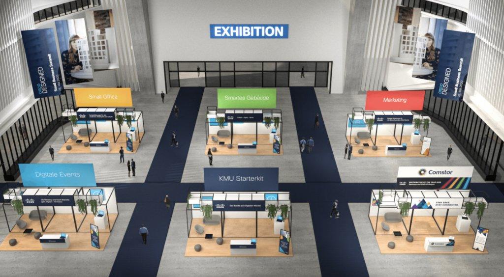 Unsere virtuelle Exhibition Halle des Cisco Small Business Partner Summit kann sich sehen lassen. Außerdem gibts Erfahrungen von Kleinunternehmern mit #Webex & Cisco 👇🏻👇🏻👇🏻 #CiscoPartner #SmallBusiness @Comstor_DE @IngramMicroInc @TechDataEurope
