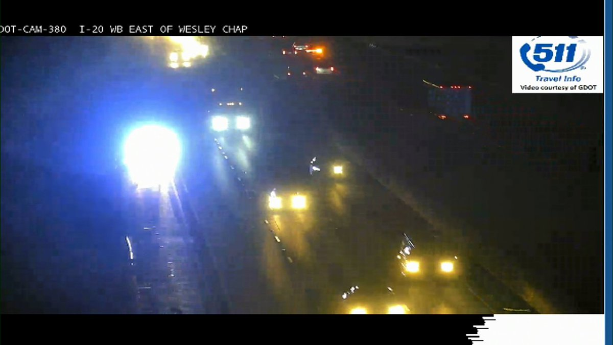 Stall with police off to the side I-20 WB at Wesley Chapel no delays. #MorningRushATL #11alive