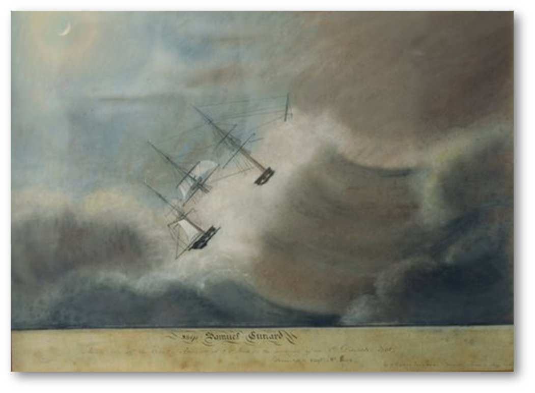 A painting which may well have put anyone off crossing the #Atlantic from #Liverpool for many years!pic.twitter.com/StpJU5XMj2