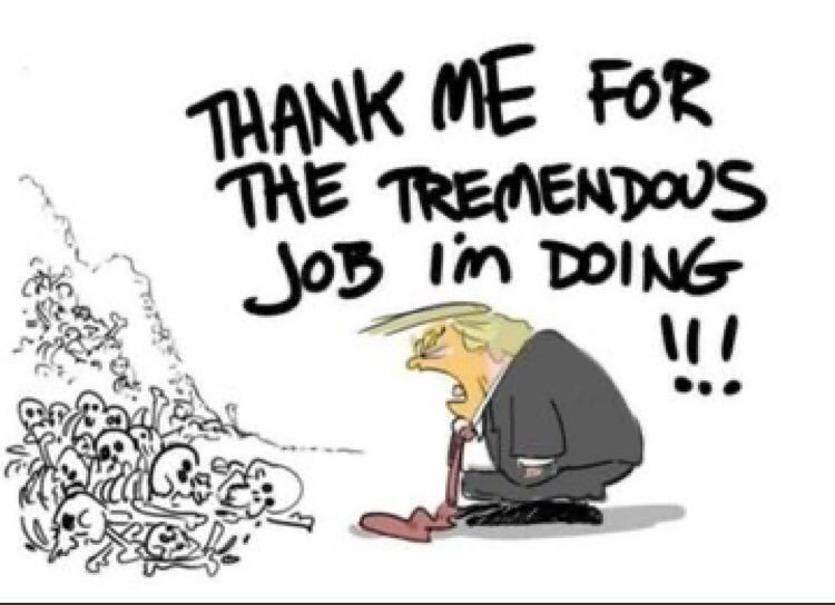 More than 100.000 Covid-19 Death. Come on, Thank me for the tremendows job im doing! #USA #Trump pic.twitter.com/VhXymfa20r