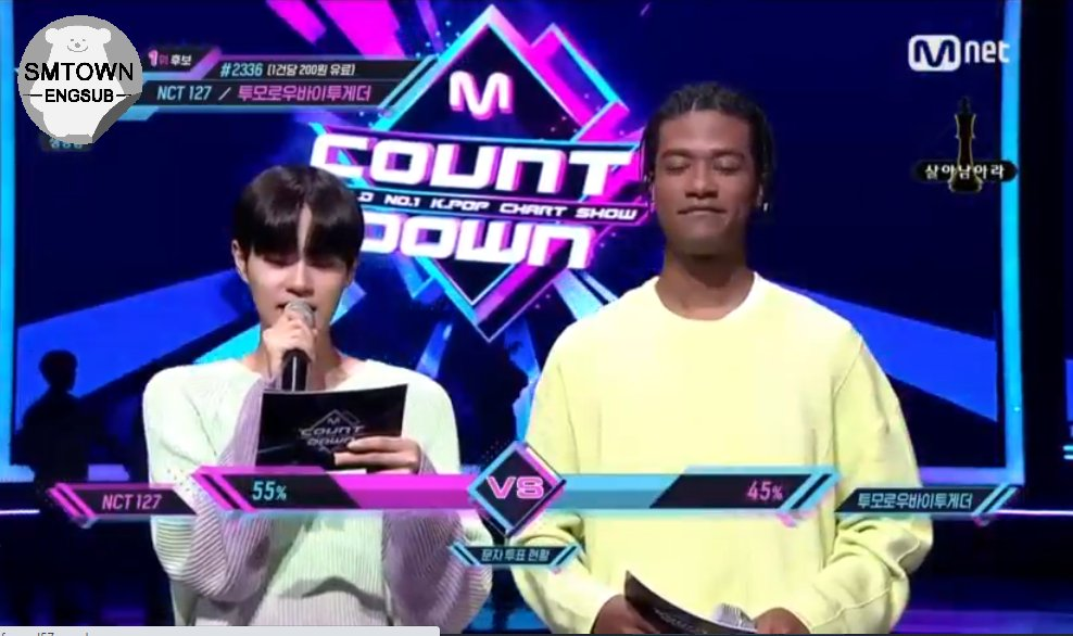 MCountdown Current Live Votes:  #1 NCT 127 (55%) #2 TXT (45%)  @NCTsmtown_127<br>http://pic.twitter.com/RcO5Ec4GJh