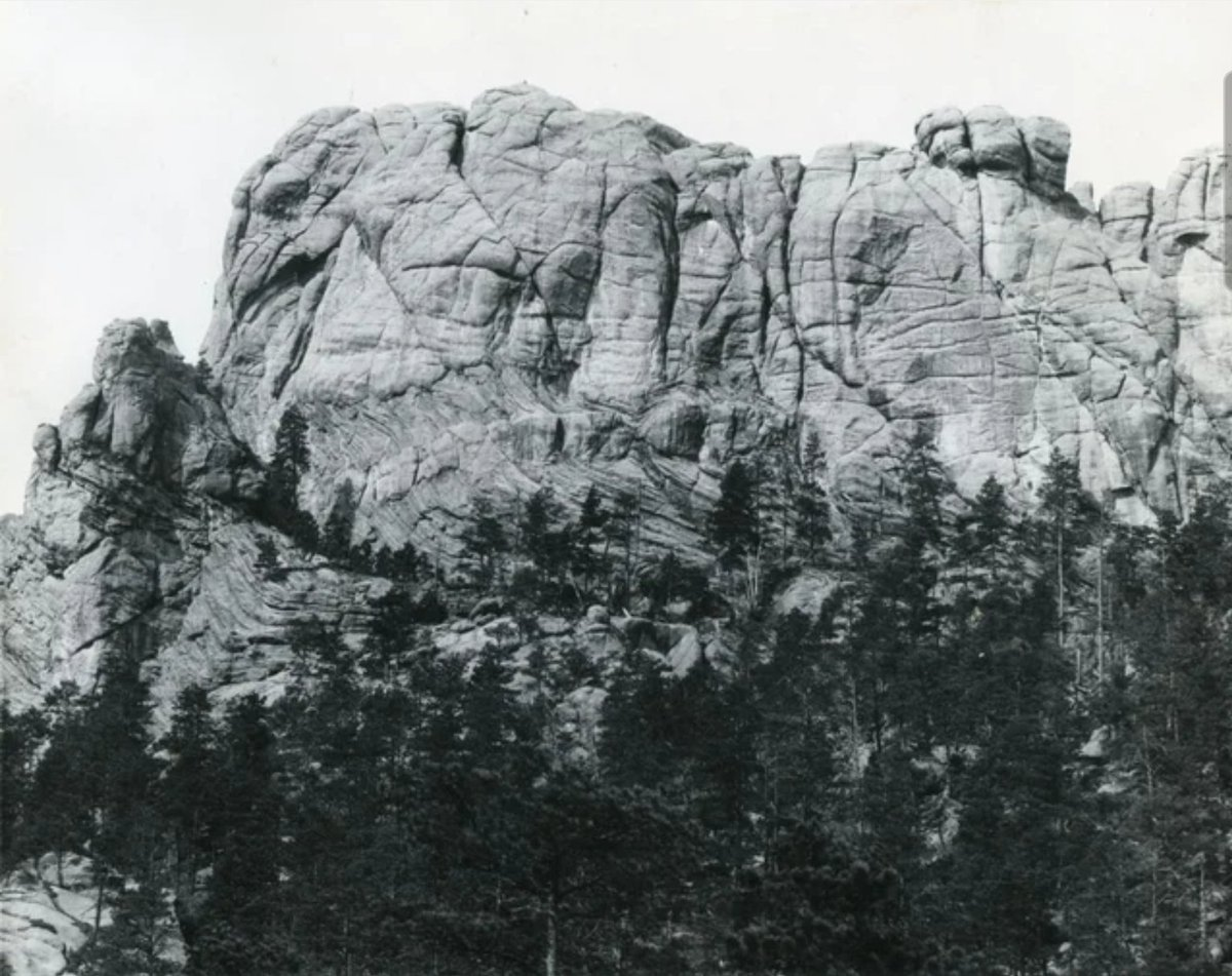 This is Mount Rushmore before any carvings were made. It's natural beauty was UnPresidented...😀