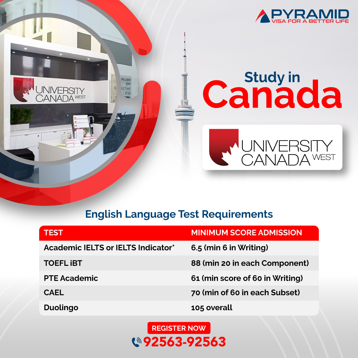 Checkout #English #Test requirements to study at #UCW, Canada🇨🇦️.  You can apply with 👉Academic #IELTS or IELTS Indicator | 👉#TOEFL iBT 👉 #PTE Academic | 👉 #CAEL | 👉 #DUOLINGO. Call us at 📱- 92563-92563 #StudyinCanada🇨🇦️ #studyvisa #PyramideServices_Hyderabad #StudyinUCW https://t.co/lQgzIhtt7T